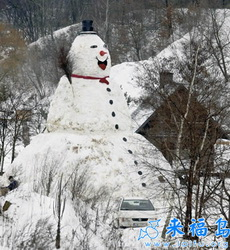 El hombre de nieve más grande de mundo.