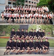 la comparación entre la foto de gradución de chicos y la de chicas