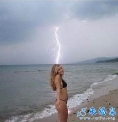 Bikini Girl Struck By Lightning