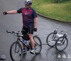 Portable Keg Trailer for a Bike
