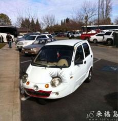 Girlie Car with Eyelashes