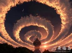 云变成这样了,是有外星人的征兆吗?