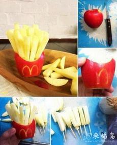 大神!苹果做的麦当劳薯条!