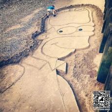 Homer Simpson Dirt Drawing WIN