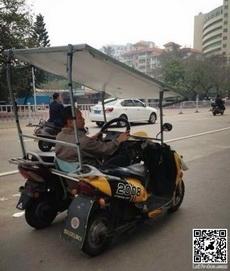 两辆电瓶车就能变成一辆轿车