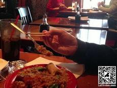 展示给老外看的吃饭时的技术