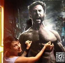 Wolverine is screaming because he's getting a nipple pinch!