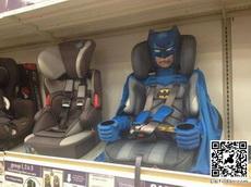 座位上有蝙蝠侠保护你,不要怕