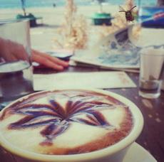 Latte art...