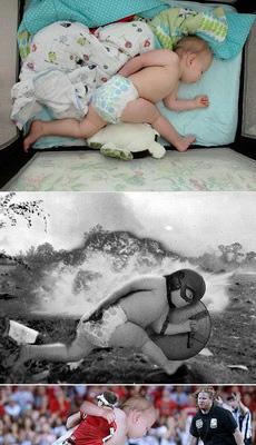 把小宝宝梦中狂奔的图片放网上后