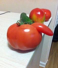 这西红柿长得太内涵了!