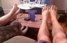 切,我的腿比你们好看多了