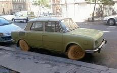 这车的轮胎真够高大上的!