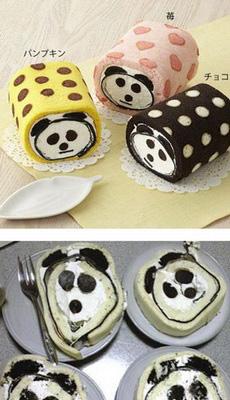非常软萌的一卷熊猫蛋糕,可切开后,整个世界都沦陷了