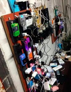 我们教室后面可以充电