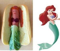 当迪士尼公主变成了热狗