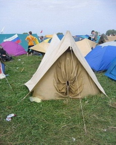 這間是女孩子住的帳篷!
