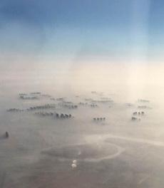 从空中看北京