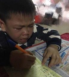 开学了,哭着写作业