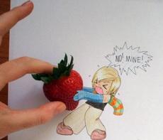 不,这是我的草莓