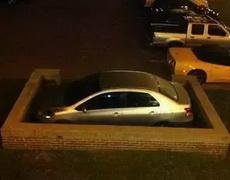 这个停车技术太寂寞了