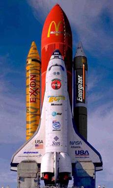 未来宇宙飞船的赞助商