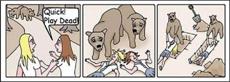 好有爱滴熊熊……幸好不知道现在人类已经流行火葬了……