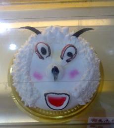 孩子们看到这个喜羊羊蛋糕会哭吧!!!