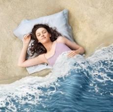 沙灘、海浪……被單被套!
