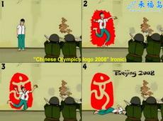 老外恶搞的2008奥运标志