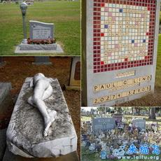各式各样的墓碑