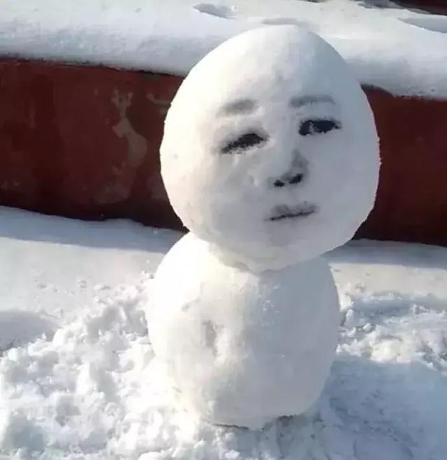 雪人这眼神很传神了!