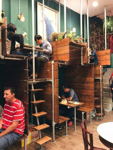 一个节省空间的创意餐厅设计