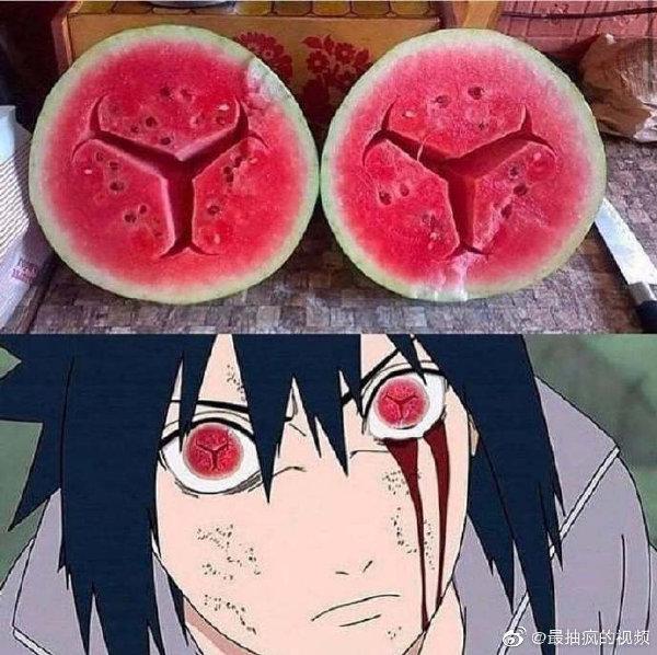 日本人想吃西瓜做出的作品